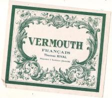 étiquette  - Vermouth Français Thomas RIVAL - BORDEAUX - - Whisky