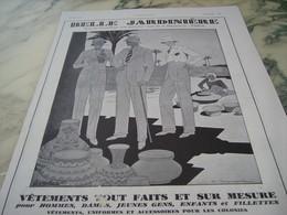 ANCIENNE PUBLICITE MAGASIN BELLE JARDINIERE  1930 - Habits & Linge D'époque