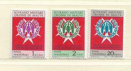 ORDRE DE MALTE  ( EUODM - 4 )  1971  N° YVERT ET TELLIER  N° 71/73  N** - Malta (la Orden De)