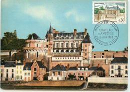 PREMIER JOUR CARTE MAXIMUM CHATEAU D'AMBOISE 1963 - 1960-69