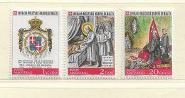 ORDRE DE MALTE  ( EUODM - 5 )  1972  N° YVERT ET TELLIER  N° 77/79  N** - Malta (la Orden De)