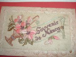 54 NANCY  Souvenir Cp Brodée 2scans - Nancy