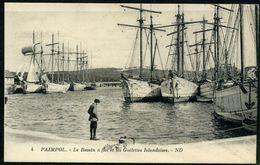 Cpa   Paimpol  Bassin Des Bateaux De Pêche Vers L' Islande,   Animée - Paimpol