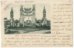 Hanoi Portail Village Khin Loc Ecrite De Vinh 1901 Voyage Vers Hin Boun Laos à Elephant - Laos