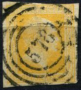 Preußen Michel 8 Gestempelt, Großer Vertikaler Knick Mittig (1-359) - Preussen