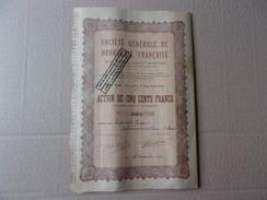 Générale De Droguerie Française (1946) 500 Titres émis - Shareholdings
