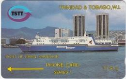 """Trinidad & Tobago : T&T-2AA . """"PORT Of SPAIN HARBOR """" - Trinidad & Tobago"""