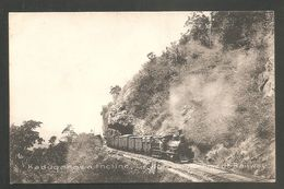 CEYLON - Kaduganawa Incline, Ceylon - Voyagée 1908,Timbre Anglais Ceylon- Cachets COLOMBO Et PNOMPEN, CAMBODGE - TRAIN - Sri Lanka (Ceylon)
