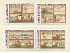 ORDRE DE MALTE  ( EUODM - 11 )  1977  N° YVERT ET TELLIER  N°  135/138    N** - Malta (la Orden De)
