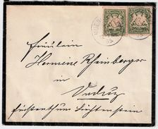 Liechtenstein, 1895, Bayern Nach Vaduz , #8626 - ...-1912 Vorphilatelie