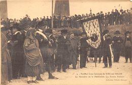 29-RIEC-SUR-BELON- FESTIVAL INTER-CELTIQUE , LA BANNIERE DE LA FEDERATION DES BARDES BRETONS - France