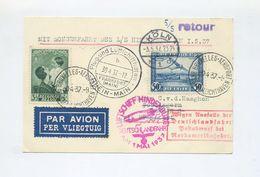 1937 Belgien Sehr Seltene Zuleitung Zur Deutschlandfahrt LZ 129 Abwurf Köln Im Sieger Nicht Notiert SI 453B - Belgien