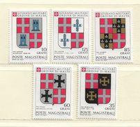 ORDRE DE MALTE  ( EUODM - 13 )  1979  N° YVERT ET TELLIER  N°  171/175    N** - Malta (la Orden De)