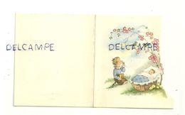 Mignonnette Double. Liège 1956. Christine. Bébé Et Fillette Dans Le Jardin. Coloprint 11386/5. 7,8/9 Cm - Geboorte