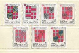 ORDRE DE MALTE  ( EUODM - 17 )  1982  N° YVERT ET TELLIER  N°  205/211    N** - Malte (Ordre De)