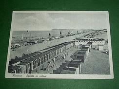 Cartolina Riccione - Sfilata Di Cabine 1935 Ca - Rimini