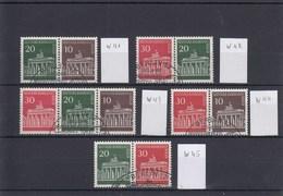 B Mi.Nr. W 41 - W 45 Paare - Brandenburger Tor - Berlin (West)