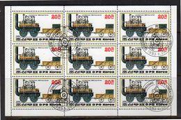 1983 Train Miniature Sheet V Used (k220) - Korea (Noord)