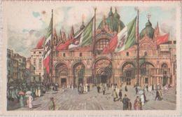 Venezia. San Marco Con Bandiere. Illustratore - Venezia