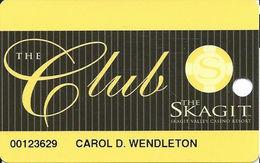 Skagit Casino - Bow, WA - Slot Card - Yellow Chip - Casino Cards