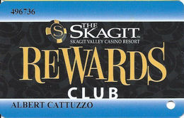 Skagit Casino - Bow, WA - Slot Card - 3 Lines Of Text In Logo - Casino Cards
