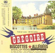 Buvard Biscottes Gregoire Chateau Fe Fouilleforte Mayenne - Biscottes