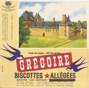 Buvard Biscottes Gregoire Chateau De  Kerjean Finistere - Biscottes
