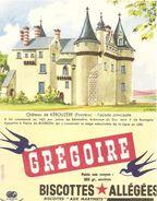 Buvard Biscottes Gregoire Chateau De    Kerouzere Finistére - Biscottes
