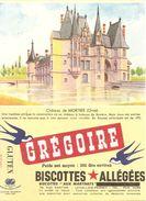 Buvard Biscottes Gregoire Chateau De  Mortrée Orne - Biscottes