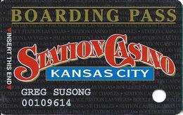 Station Casino - Kansas City, MO - Slot Card - Copyright 1997 - Casino Cards
