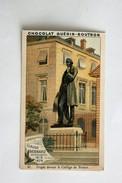 Chromo Chocolat Guérin Boutron Statue Claude Bernard Physiologiste Collège De France - Guerin Boutron