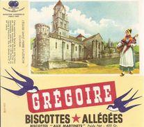 Buvard Biscottes Gregoire Eglise St  Pierre D'uzerche Correze - Biscottes