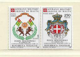 ORDRE DE MALTE  ( EUODM - 25 )  1983  N° YVERT ET TELLIER  POSTE AERIENNE   N°  3/4    N** - Malte (Ordre De)