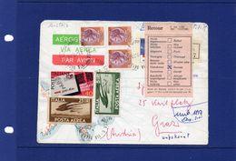 21-7-1979  Italia- Aerogramma Raccomandato Da Lucca Per L'Austria  RTS  (RETOUR TO SENDER LABEL) - 6. 1946-.. Repubblica
