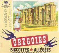 Buvard Biscottes Gregoire Porte De Mars A Reims Marne - Biscottes