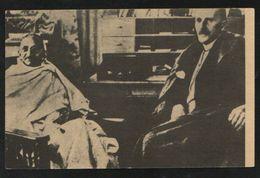 India  Mahatma Gandhi  With  Romain Rolland In Switzerland  Picture Card  # 88156  Inde Indien - Mahatma Gandhi
