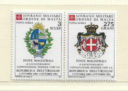 ORDRE DE MALTE  ( EUODM - 26 )  1984  N° YVERT ET TELLIER  POSTE AERIENNE   N°  9/10    N** - Malte (Ordre De)