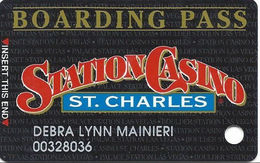 Station Casino - St. Charles, MO - Slot Card - Copyright 1997 - Large 1.75in Logo With Signature Strip - Casino Cards