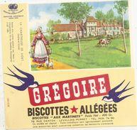 Buvard Biscottes Gregoire La Chartreuse De Liget Indre Etr Loire - Biscottes