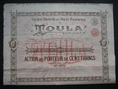 Lot De 5 Actions De 1895 BRUXELLES - SOCIETE ANONYME DES HAUTS FORNEAUX DE TOULA (RUSSIE CENTRALE) - Russie