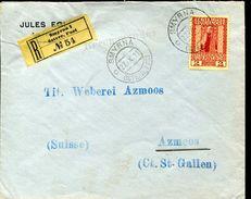 23464 Turkey/austria, Registered Cover 1911 From Smyrna To Switzerland Of Austrian Post - 1837-1914 Smyrna