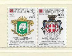 ORDRE DE MALTE  ( EUODM - 29 )  1985  N° YVERT ET TELLIER  POSTE AERIENNE   N°  15/16    N** - Malte (Ordre De)