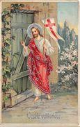 -  Carte Gauffrée  -  Illustrateur  -  Joyeuse Pâque  -  Veselé Velikonoce       -  ¤¤ - Pâques