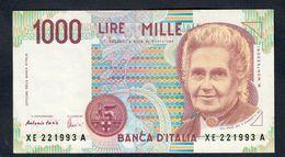 1000 Lire Montessori Serie Sostitutiva XE  1995  LOTTO 250 - [ 2] 1946-… : Républic