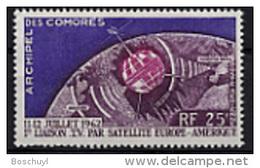 Comores, Comoros, 1962, Telstar Satellite, Space, Espace, MNH, Michel 51 - Comores (1950-1975)