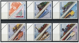 Surinam, Suriname, 1985, Trains, Railroads, Locomotives, MNH, Michel 1134-1145 - Surinam