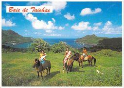 Polynésie Française Baie De Taiohae NUKU HIVA Iles Marquises (cavaliers Chevaux Horses)( T.SYLVAIN 800)*PRIX FIXE - Polynésie Française