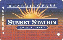 Sunset Station Casino - Las Vegas, NV - BLANK Slot Card - Copyright 1997 - Wide Border Around Sunset Station - Casino Cards