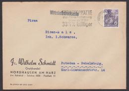 """Phone Nordhausen MWSt. """"Ferngespräche über 75 Km Entfernung ..."""" 1960, Telefon Téléphone, Wirtschaftsdrucksache - [6] República Democrática"""