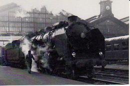 PARIS ST LAZARE 1962 PACIFIC 231  D 573 ARRIVANT DE ROUEN - Trains